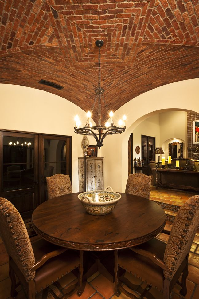 Boveda Ceiling In The Dining Room Casas Peque 241 As
