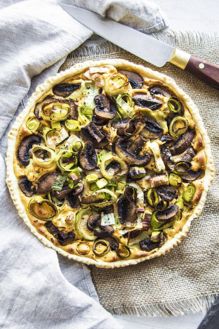 My Vibrant Kitchen | Vegan Mushroom Leek and Sweet Potato Tart | http://myvibrantkitchen.com