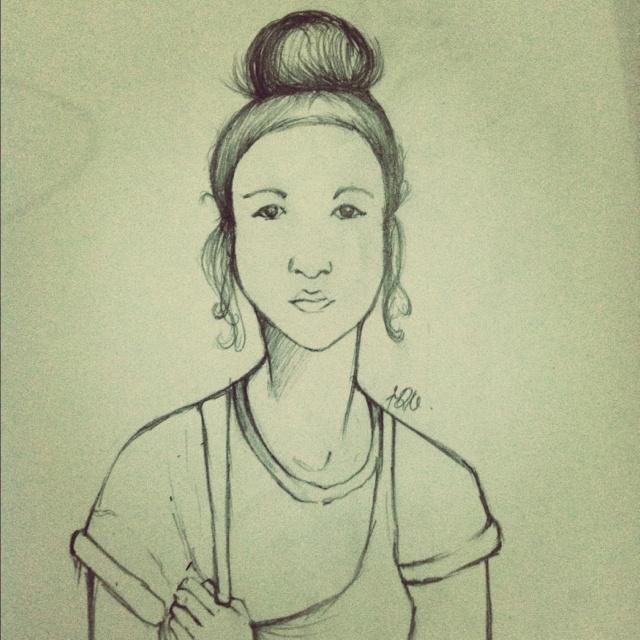 Pincil skech,illustration,girl