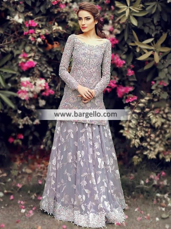 bbbe7c6252 Lavender Gray Carnation Lehenga Dresses Pakistani Designer Wedding Lehenga Dubai  UAE Women > Dresses > Special Occasions > You'll certainly make a lasting  ...