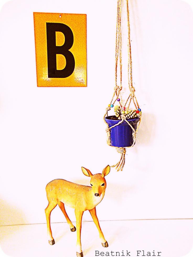 Beatnik Flair Handmade - Hanging plants  www.facebook.com/BeatnikFlair