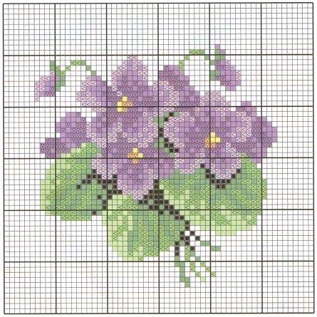ramo de violetas.