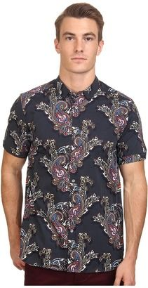Ted Baker Wisely Short Sleeve Bright Paisley Print Shirt - Shop for women's Shirt - Navy Shirt