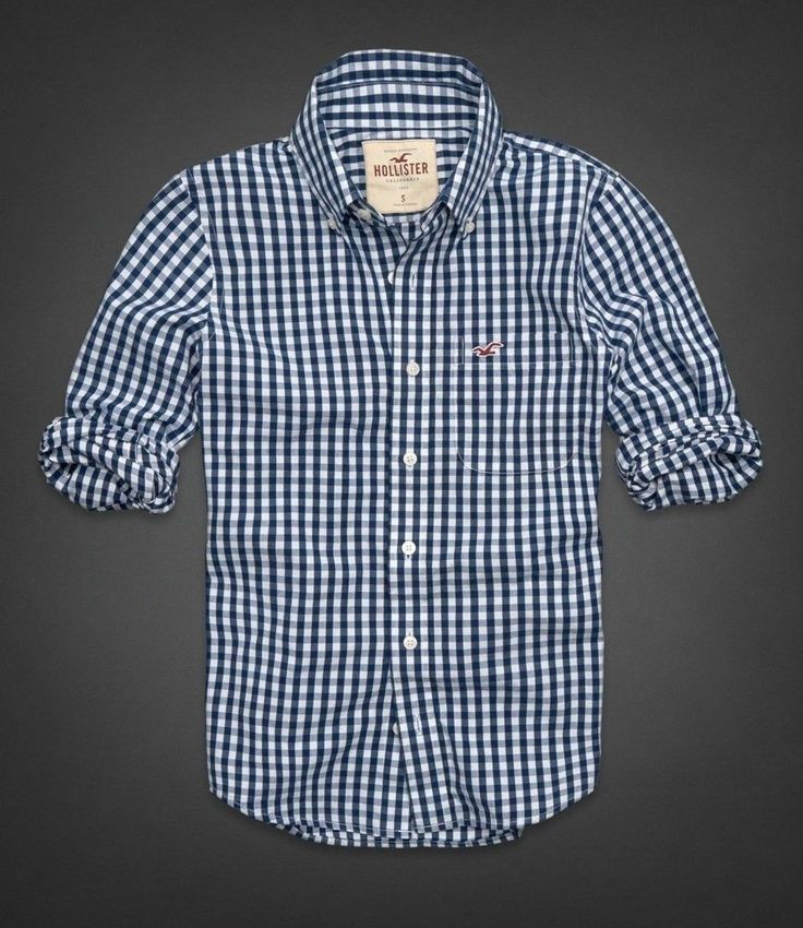 2014 Hollister by Abercrombie Men Plaids Check Shirt ...
