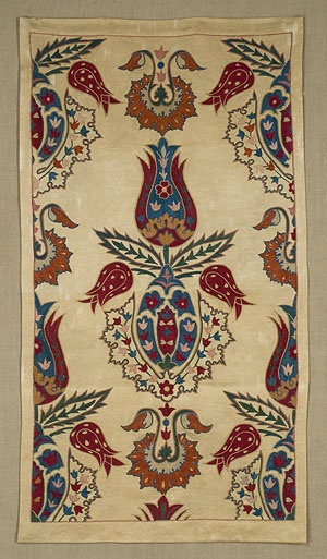 Asia - Uzbekistan. Suzani is a hand-stitched/embroidered textile made in Tajikistan, Afghanistan, Uzbekistan, Kazakhstan and other Central Asian countries - its name derives from the Persian word 'suzan', which means 'needle'.