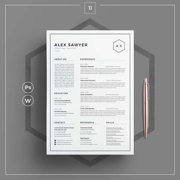 Really like this simple clean resume design