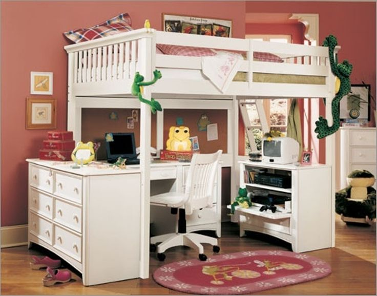 Bunk Bed With Room Under 30 best kendall's bed images on pinterest | lofted beds, 3/4 beds