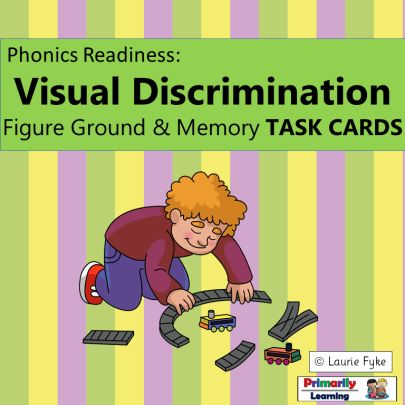 Check out these visual discrimination task cards for preschool and kindergarten!