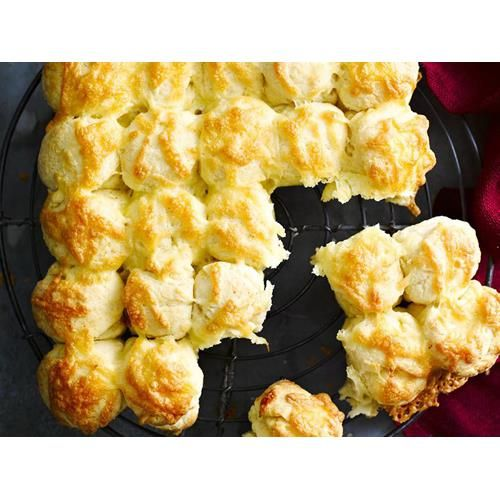 American cheese scones recipe - By Australian Women's Weekly, These molten hot cheese scones are perfect for a hungry crowd.