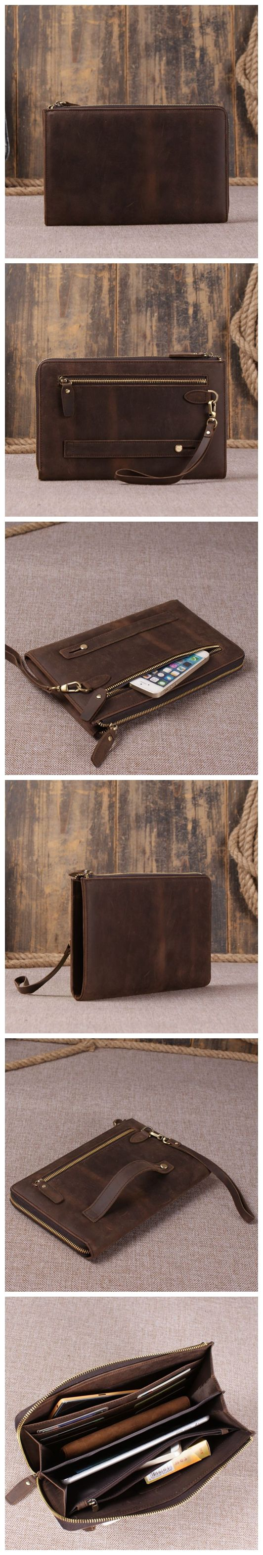 HANDMADE GENUINE LEATHER TRAVEL WALLET, LEATHER CLUTCH, IPAD BAG, WRISTLET BAG, MEN WALLET, IPAD SLEEVE, LEATHER PURSE, MEN'S GIFT
