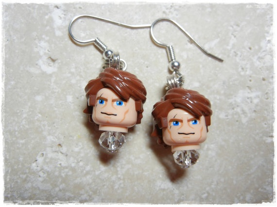 E Lego Star Wars Anakin Skywalker Earrings by EVILandENCHANTED, $19.00