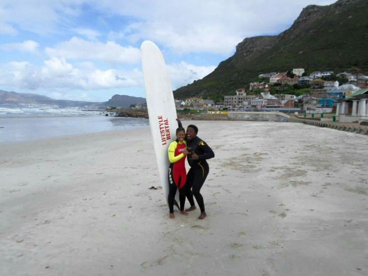 KWEZI AND Myself at Muizenberg beach in Cape Town