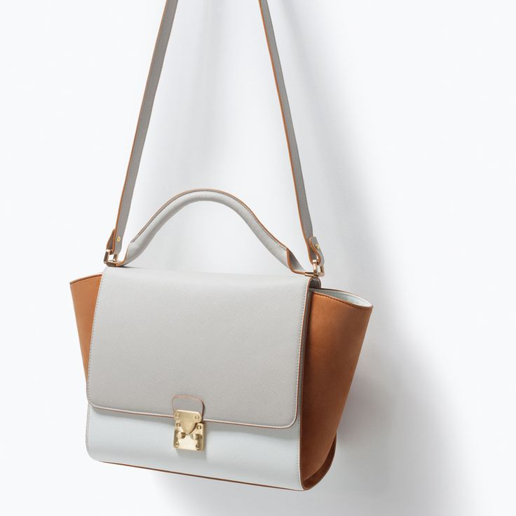 Image 3 of COMBINED CITY BAG WITH BUCKLE from Zara