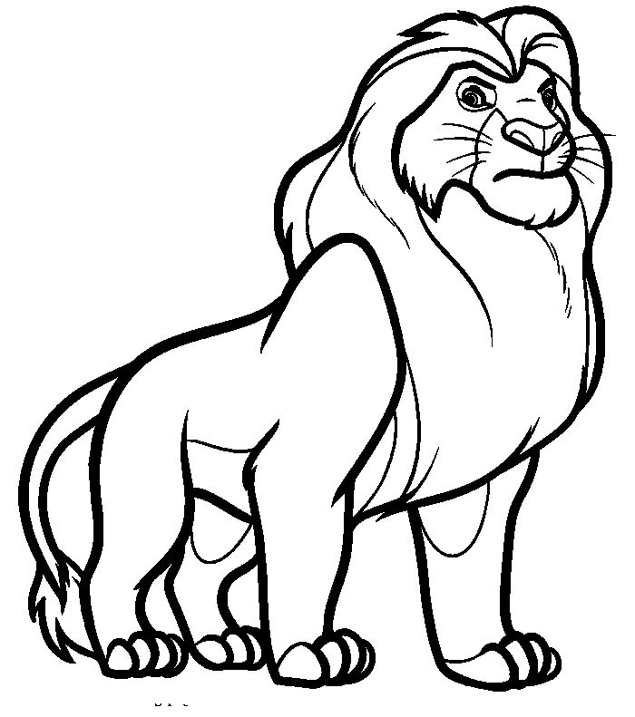 mufasa manly coloring pages for kids printable lion king coloring pages for kids