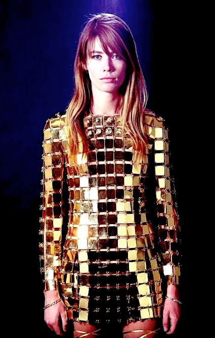 Françoise Hardy in Paco Rabanne, 1968