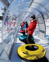 Fun for all: Heavenly Mountain Resort in South Lake Tahoe offers four fast-paced tubing runs — as well as a tubing lift — to riders 42 inches tall and up.