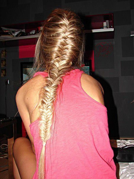 fishtailFrench Braids, Fish Tail, Long Hair, Beautiful, Longhair, Messy Fishtail, Hair Style, Braids Hair, French Fishtail Braids