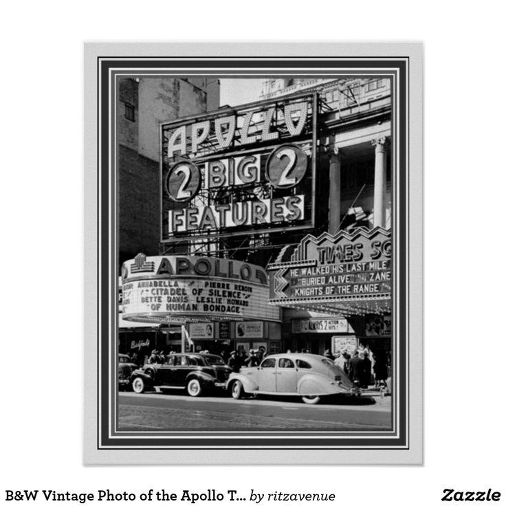 Bw vintage photo of the apollo theater 16 x 20 15 00
