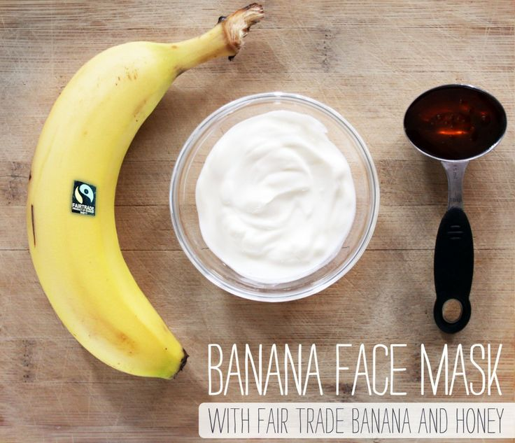 DIY fair trade banana and yogourt face mask