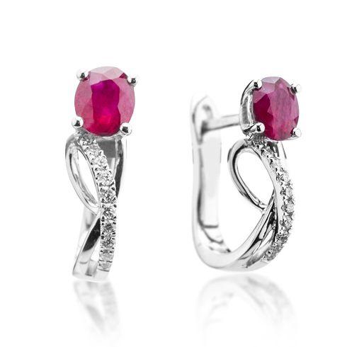 Cercei cu rubine si diamante C623