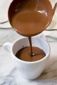 Best Chocolate Chaud - French Hot Chocolate Recipe (Drinking Chocolate) | http://ASpicyPerspective.com