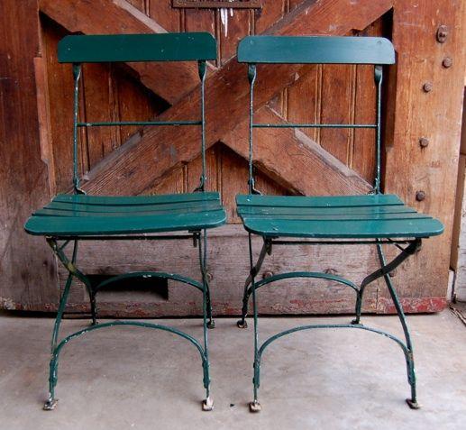 tuinstoelen groen oude industriele vintage brocante antiek retro meubels amsterdam louise stutterheim hout en nieuw