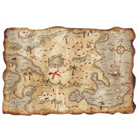 This treasure map would be the perfect decor accessory for the pirate theme classroom. Click through to grab your own today!