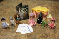 So I finally got to share the joy that is The Wizard of Oz with Adelynn. When I was pregnant with her I collected these dolls from McD's. I'd been planning this night for 5 years.   I finally bought the DVD the other day. I made popcorn, hid all the dolls under the couch and told her I had a surprise. I made 'tickets' for all 4 of us and had them all line up at the baby gate. As they passed through I hole punched their ticket. . As each character made..... *FOR MORE VISIT OUR BLOG*