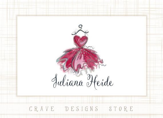 Dress Logo Design Dress Boutique Logo by CraveDesignsStore on Etsy