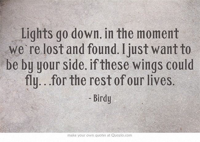 Birdy-wings lyrics-made by me on Quozio.