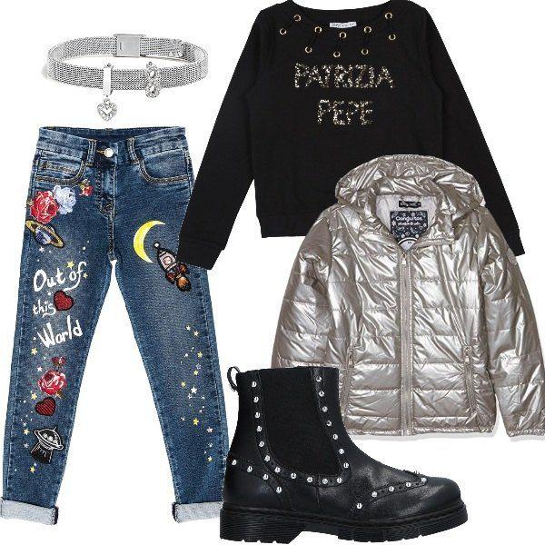 new product abb21 f2a85 Focus sul jeans con applicazioni multicolor per ragazze ...