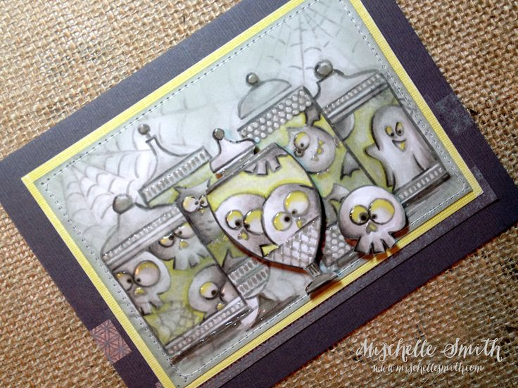 ctmh, Close To My Heart, Halloween, skulls, twin touch markers, alcohol markers, copic, cards, how to, tutorial, monochromatic, http://www.mischellesmith.com/blog/160-happy-haunted-boo-twin-touched