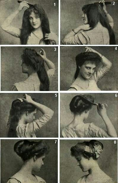 Edwardian hair-do