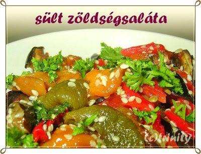 Sült zöldségsaláta