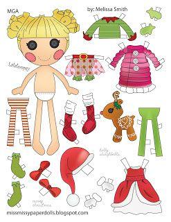 Miss Missy Paper Dolls: Holly Sleighbells