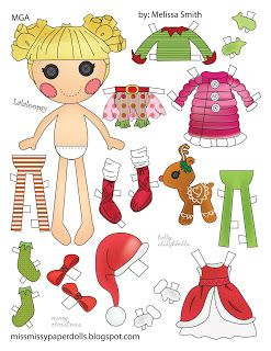 Miss Missy Paper Dolls: Holly Sleighbells