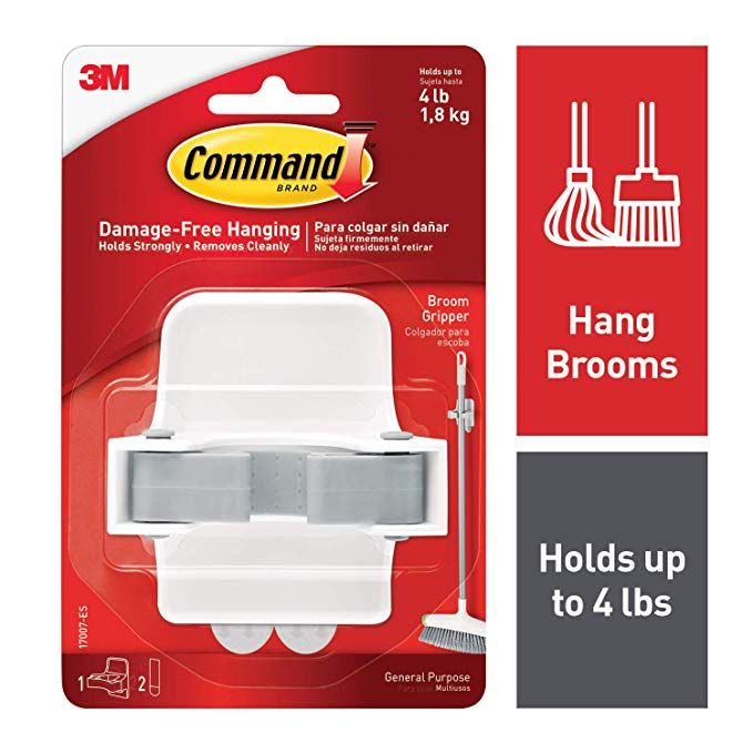 Command By 3m Broom Holder Wall Mount