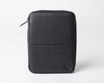 LEATHER TRAVEL WALLET medium iPad Mini Kindle folio passport