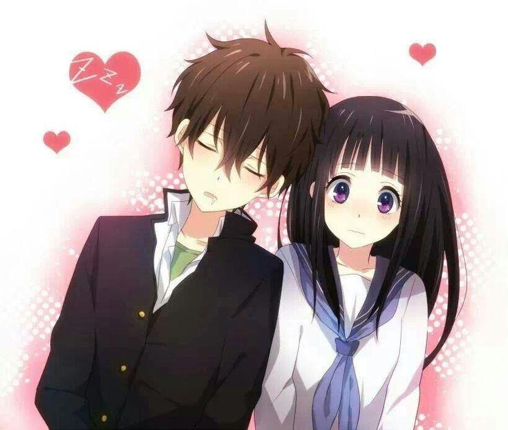 Anime couple cute sweet love random pinterest - Anime couple pictures ...