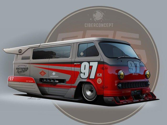 Проект скоростного микроавтобуса РАФ.