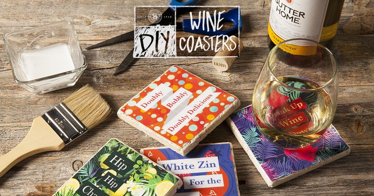 Say It With Wine – DIY Coasters