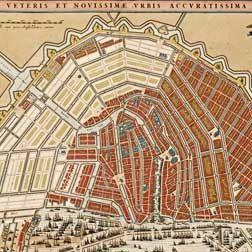 Amsterdam - historische kaart van Visscher