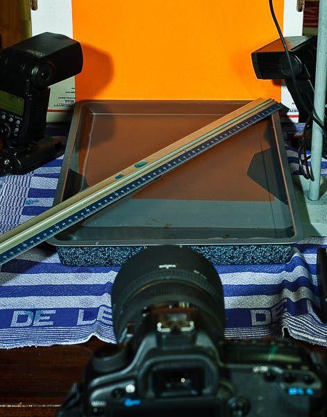 Druppelfotografie opstelling en voorbereiding