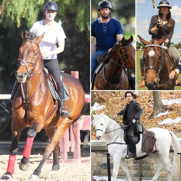 6 Celebrities who love horses