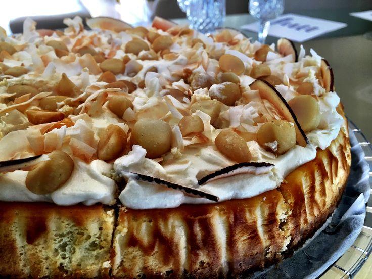 Macadamia & coconut cheesecake