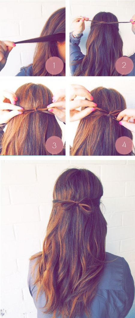hairstyle for those who do not have time in the morning