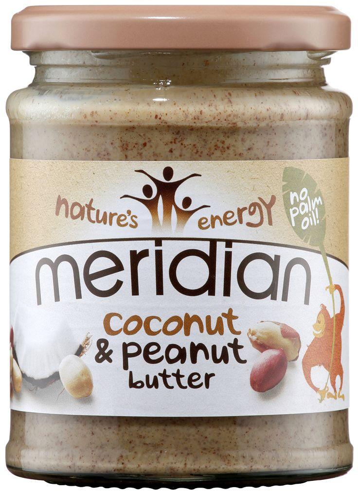 Coconut & Peanut Butter. Our peanuts are blended with pure coconut and honey then ground until almost smooth for a delicious indulgent taste. http://shop.meridianfoods.co.uk/collections/speciality-nut-butters/products/coconut-peanut-butter-280g