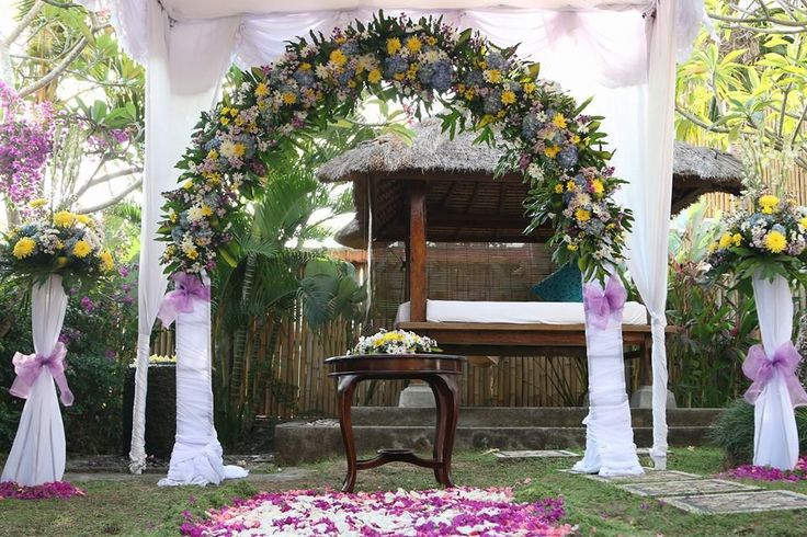 Simple villa setup  http://www.balibrides.com.au/bali-wedding-packages