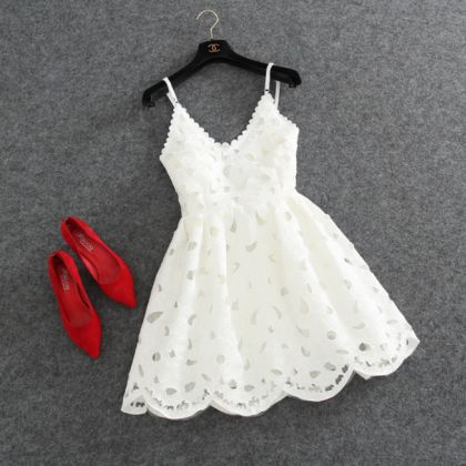 Fashion Straps Lace Dress