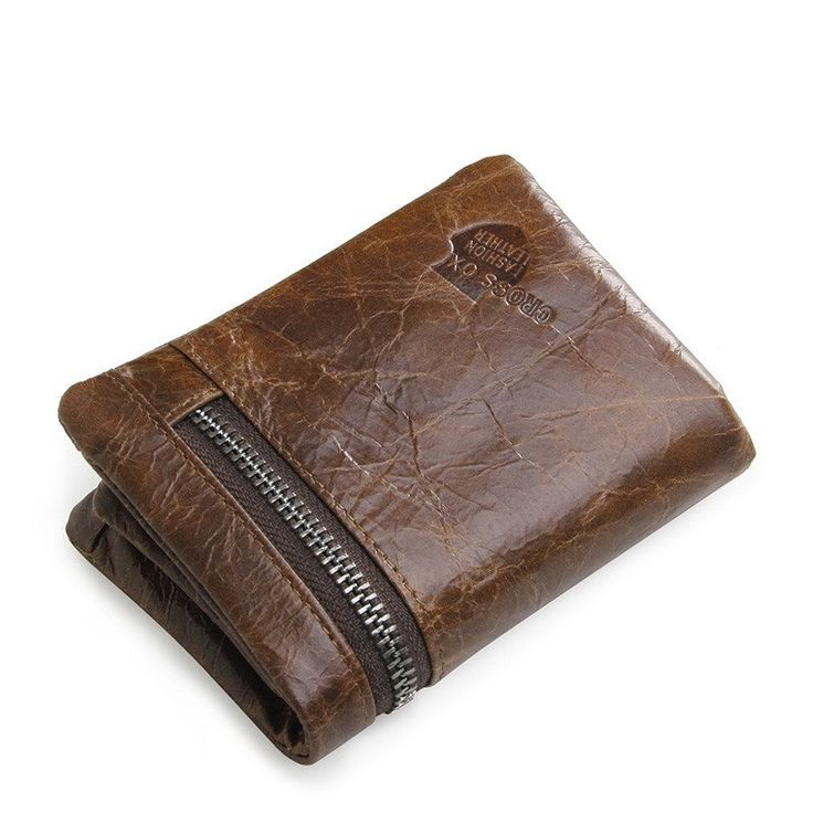 Men Spring New Arrival Rugged Style Genuine Cowhide Leather Wallet French Wallets Card Holder